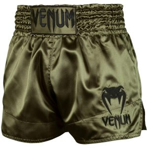 Venum Muay Thai Shorts Classic Khaki Black