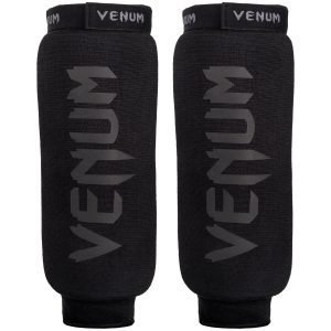 Venum Kontact Shin Instep Shin Guards Black on Black