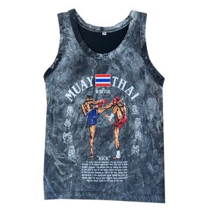 Born To Be Kids Muay Thai Vest Distressed Grey