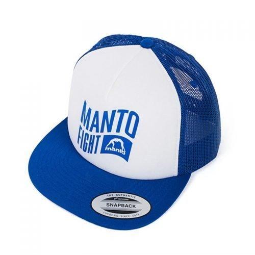 Manto Hat Flag Mesh Foam Blue White Snapback