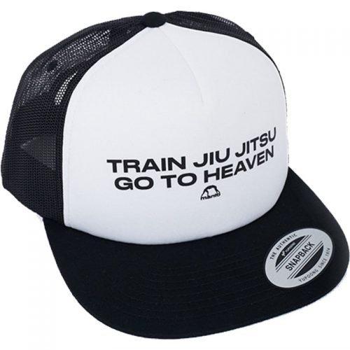 Manto Hat Jiu Jitsu Mesh Foam Black White Snapback