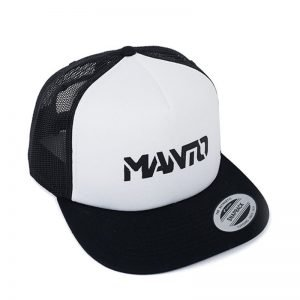 Manto Hat Stencil Mesh Foam Black White Snapback