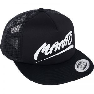 Manto Hat Tag Mesh Foam Black Snapback