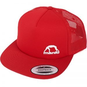 Manto Hat Logo Mesh Foam Red Snapback