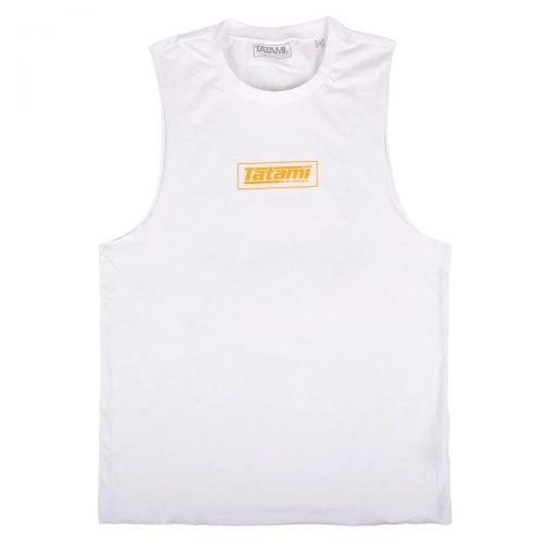 Tatami Kanji Print Summer Tank Top White