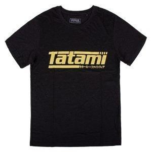 Tatami Kanji Print Summer T-Shirt Heather Black