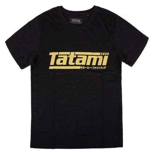 Tatami Kanji Print Summer T-Shirt Heather Black