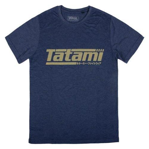 Tatami Kanji Print Summer T-Shirt Heather Navy