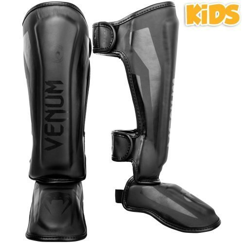 Venum Elite Kids Exclusive Black Shin Guards