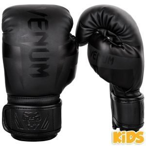 Venum Boxing Gloves Elite Kids Exclusive Black