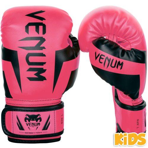 Venum Boxing Gloves Elite Kids Exclusive Fluo Pink