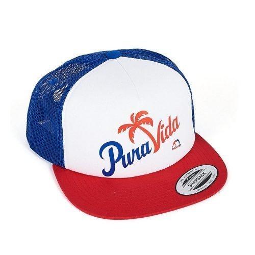 Manto Hat Pura Vida Mesh Foam Blue White Red Snapback