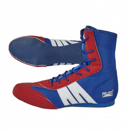 Pro Box Boxing Boots Shoes Junior Blue Red