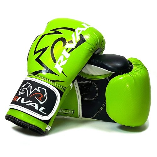 Rival RB7 Fitness Bag Training Boxing Gloves Lime Black