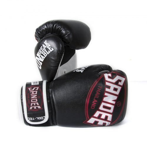 Sandee Kids Cool-Tec Boxing Gloves Black White Red