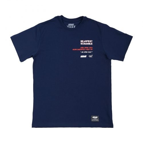 Scramble x Bearfoot T-Shirt Navy Tee
