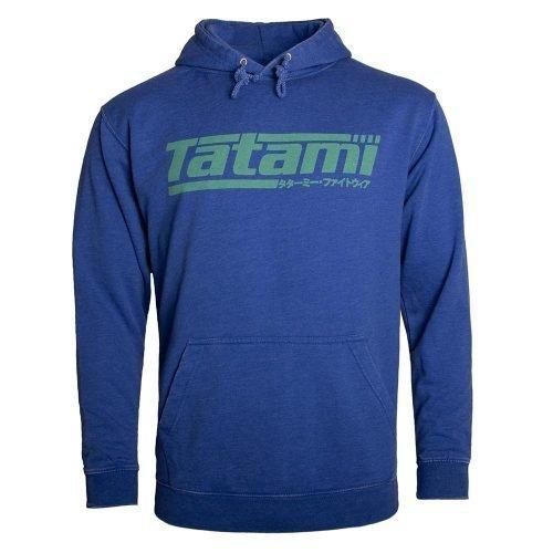 Tatami Kanji Print Hoodie Washed Royal Blue