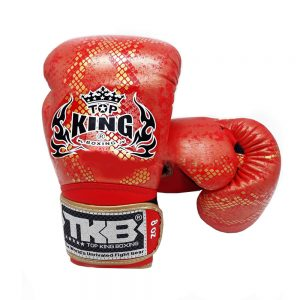 "Top King Boxing Gloves ""Snake"" Red Gold"