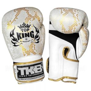 "Top King Boxing Gloves ""Snake"" White Gold"