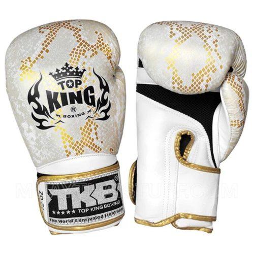 "Top King Boxing Gloves ""Snake"" White Gold"