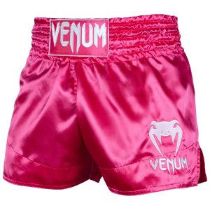 Venum Muay Thai Shorts Classic Pink White