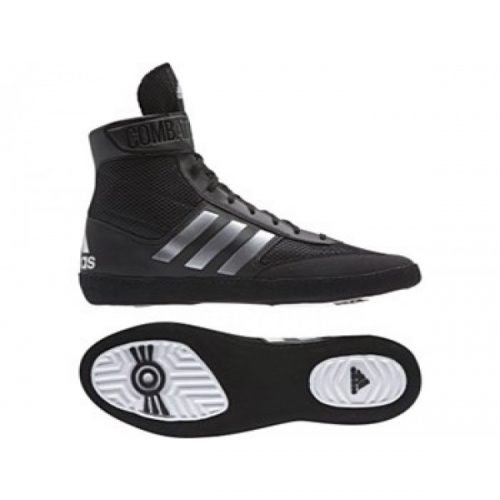 Adidas Combat Speed 5 Black Silver Boxing Boots