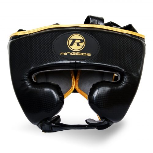 Ringside Pro Fitness Head Guard Synthetic Leather Black Gold