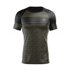 Kingz Digital Camo Rash Guard Short Sleeve
