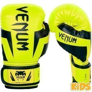 Venum Boxing Gloves Elite Kids Exclusive Fluo Yellow
