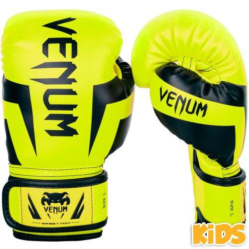 Venum Boxing Gloves Elite Kids Exclusive Fluo Yellow