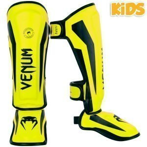 Venum Elite Kids Exclusive Fluo Yellow Shin Guards