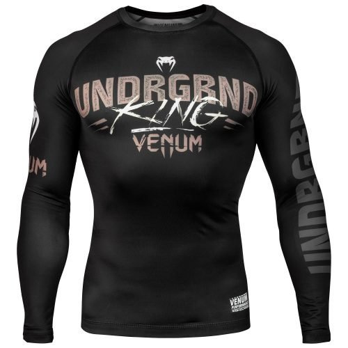 Venum Underground King Rash Guard Long Sleeve Black Sand