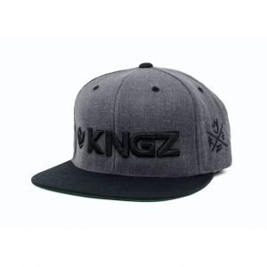 Kingz Logo Snapback Grey Black