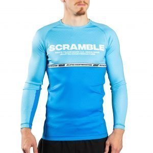 Scramble Ranked Rash Guard V4 Blue