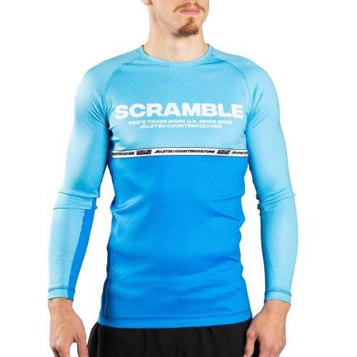 Scramble Ranked Rash Guard V4 Blue