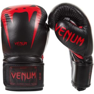 Venum Boxing Gloves Giant 3.0 Nappa Leather Black Red Devil