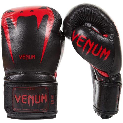 Venum Boxing Gloves Giant 3.0 Nappa Leather Black Red Devil