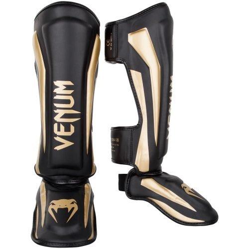 Venum Elite Standup Shin Guards Black Gold