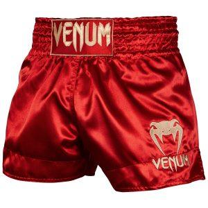 Venum Muay Thai Shorts Classic Bordeaux Gold