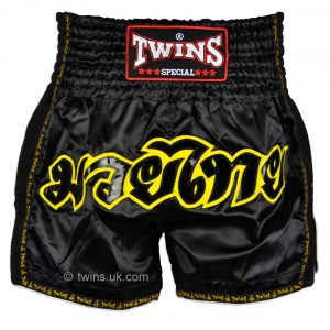 Twins Muay Thai Shorts TWS-913 Black Retro