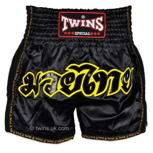 Twins Muay Thai Shorts TWS-913 Black Retro