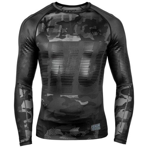 Venum Tactical Rash Guard Long Sleeve Black Urban Camo