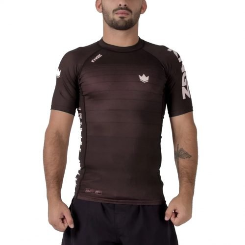 Kingz Ranked V5 Rash Guard Short Sleeve Brown