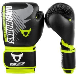 Ringhorns Charger MX Boxing Gloves Black Neo Yellow