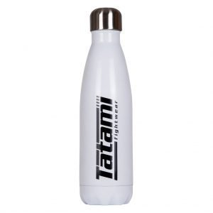 Tatami Water Flask White with Black Logo