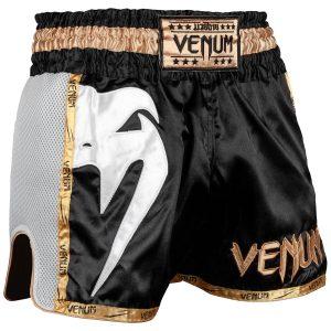 Venum Giant Muay Thai Shorts Black White Gold