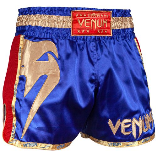 Venum Giant Muay Thai Shorts Blue Red Gold