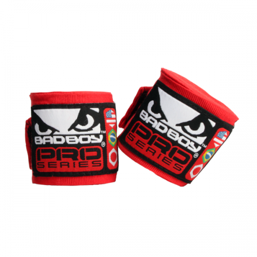 Bad Boy Stretch Hand Wraps Red 2.5M
