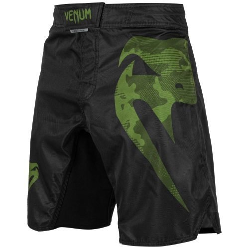 Venum Light 3.0 Fight Shorts Black Khaki