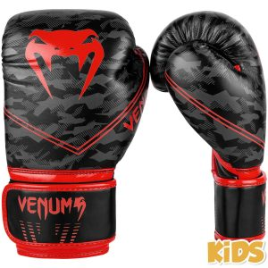 Venum Okinawa 2.0 Kids Boxing Gloves Black Red